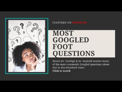 Most Googled Foot Questions